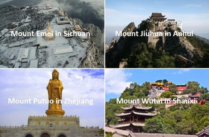 Sacred Buddhist Mountains in China
