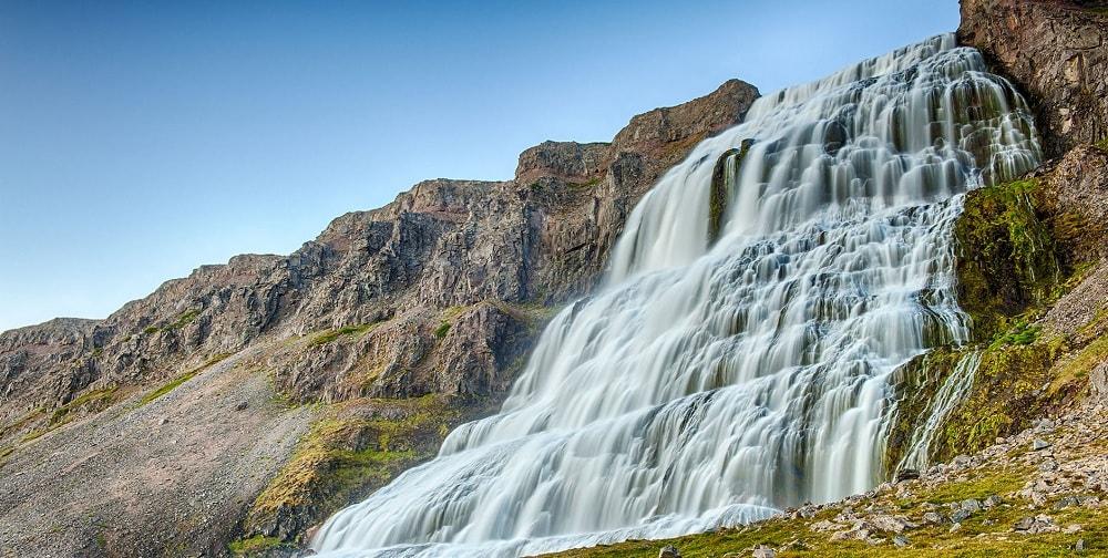 Dynjandi Waterfalls in Iceland