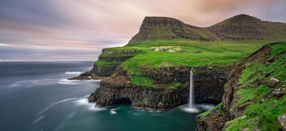 Gasadalur Village, Faroe Islands in Denmark