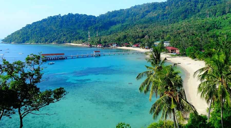 Tioman Island in Pahang, Malaysia