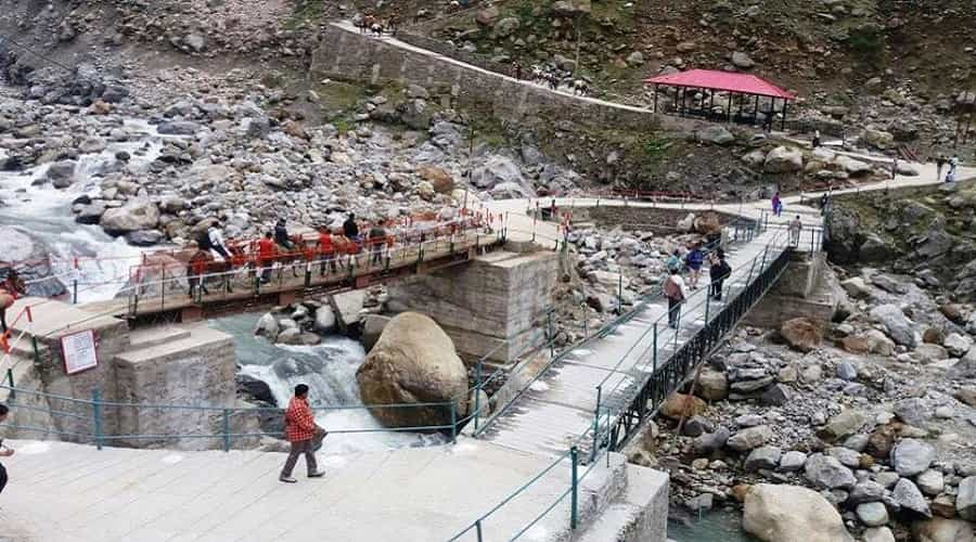 Rambara bridge on Kedarnath trek route