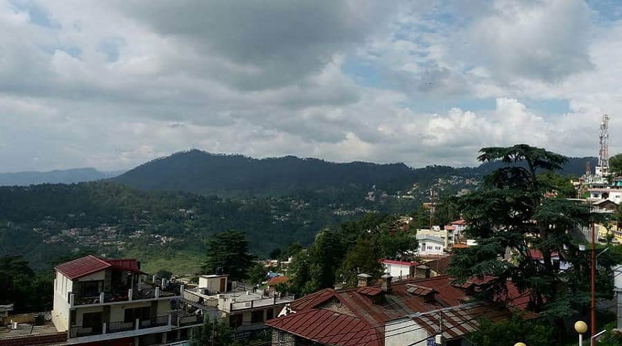Almora City view from Hotel Savoy