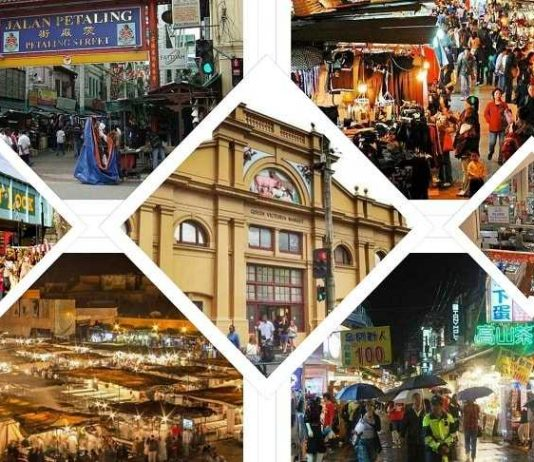 Buzzing Markets Alive at Night