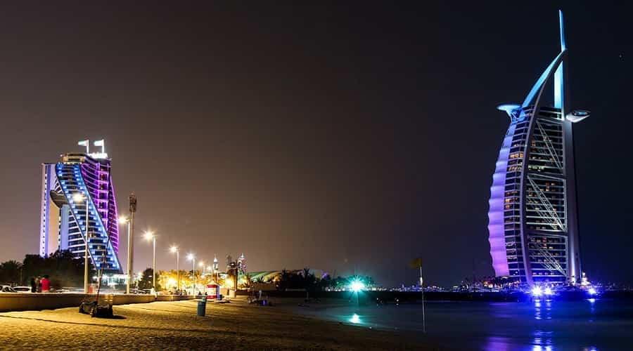 Jumeirah Public Beach at Night