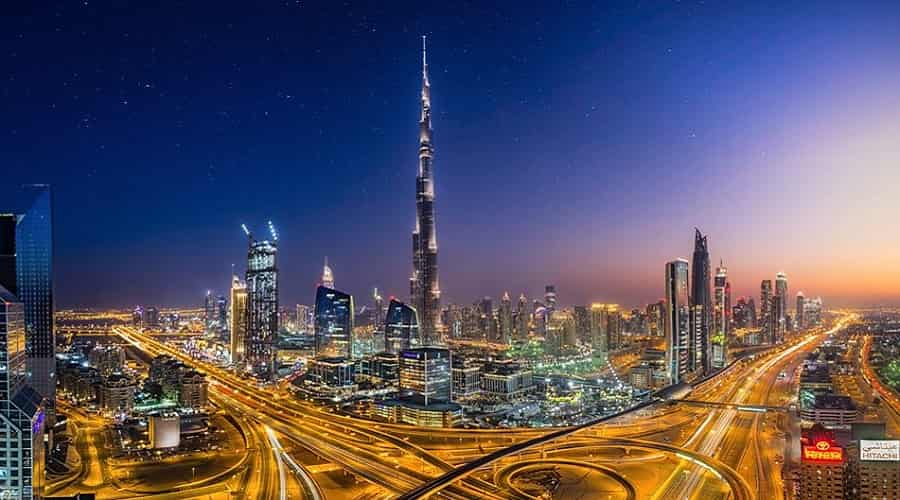 Night View of Burj ul Khalifa