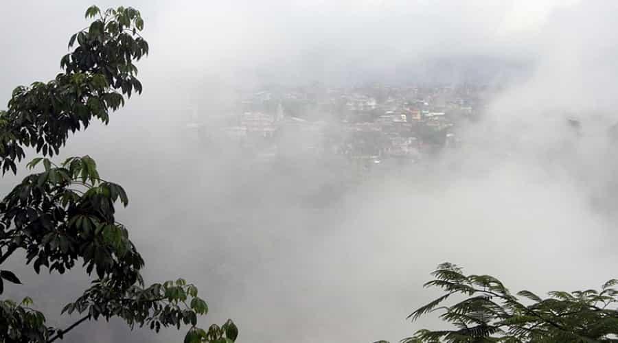 Shillong city during rainy season