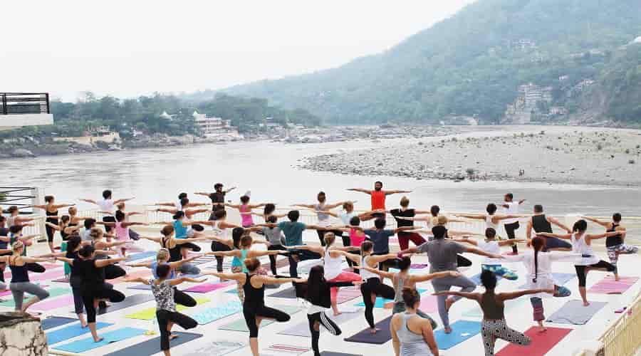 yoga at ganga