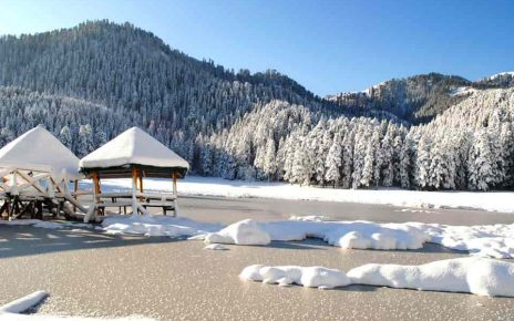 snow fall in Khajjiar
