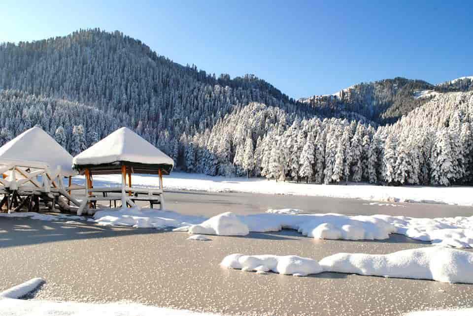 snow fall in Khajjiar