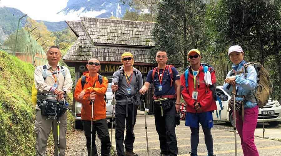 Hike Mt Kinabalu starting point at Timbohon Gate