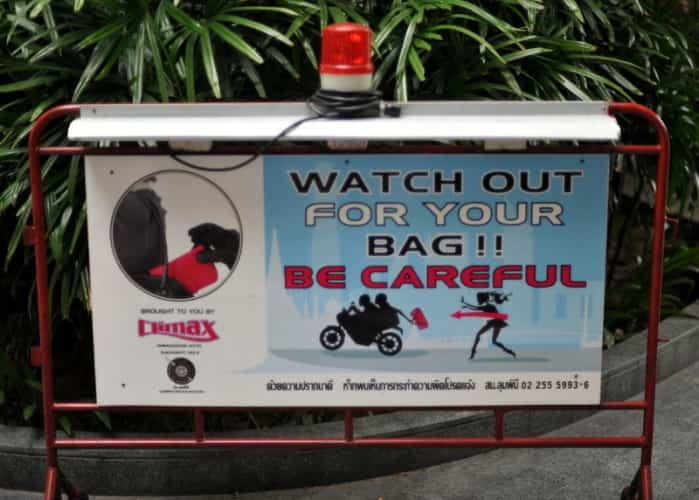Bangkok Warning Sign