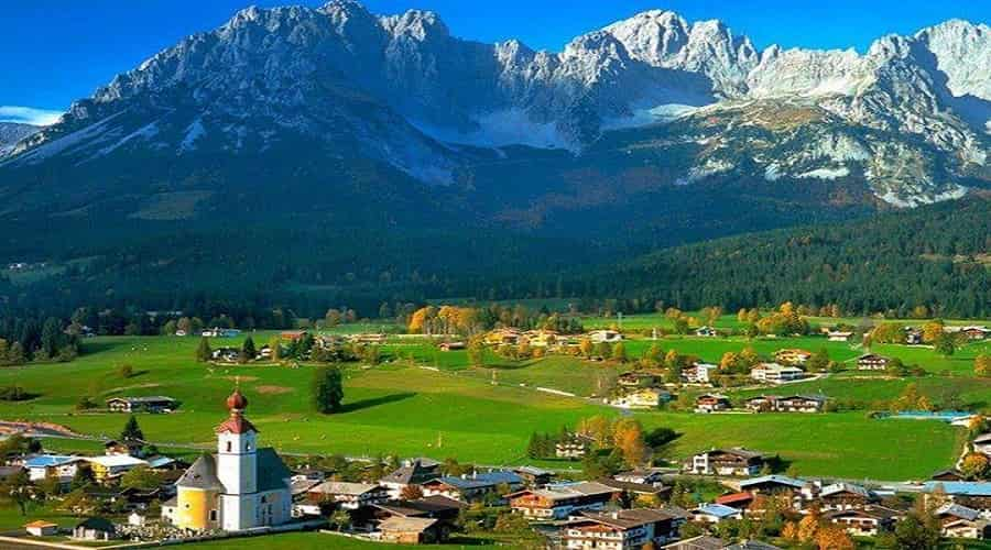Austrian Mountain Range Alps