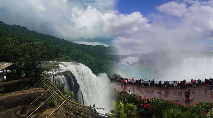 Niagara falls and Athirapilly Falls