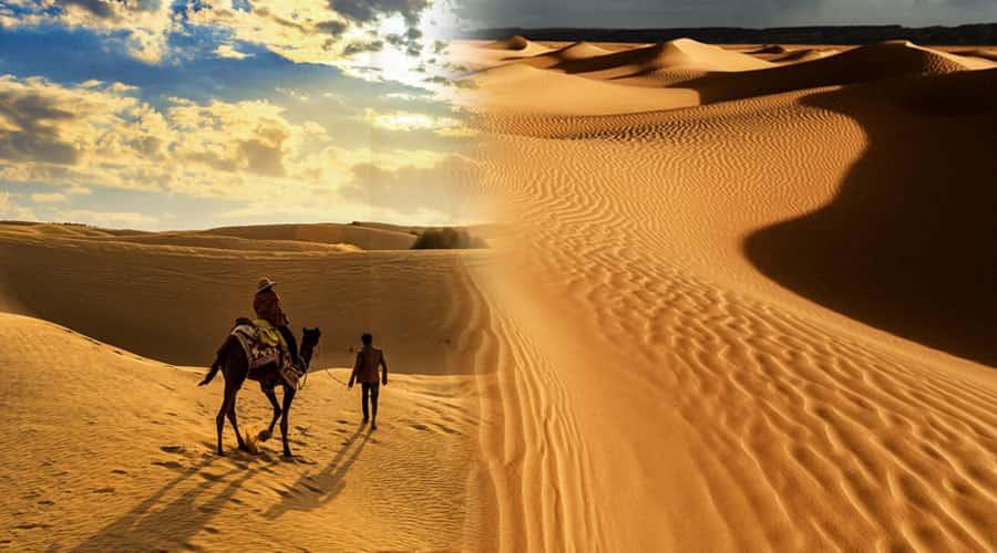 Sahara Desert and the Thar Desert
