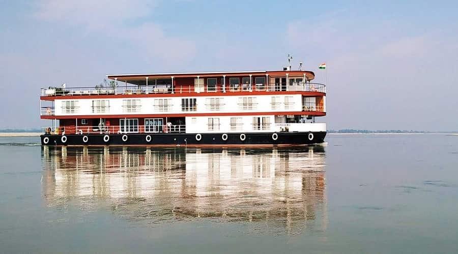 motor boat ride majuli island