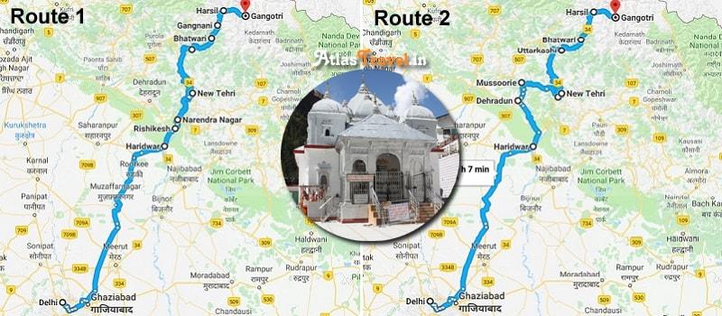 Gangotri Route Map